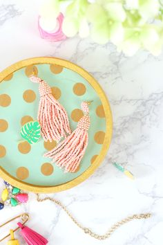 DIY Jewelry Dish wit