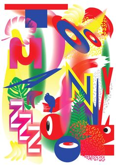 pqq | polina kukushkina #toomanyzooz Poster Layout, Wave Design, Poster Prints, Posters, Bee, Typography, Design Inspiration, Branding, Graphic Design