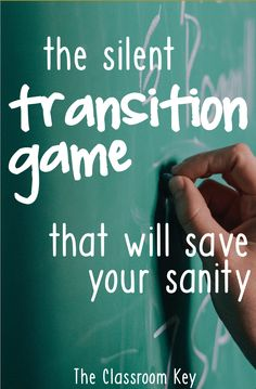 The Silent Transition Game that will Save Your Sanity - try this when you need a minute to get ready for your next lesson, a great trick for elementary teachers Education Easy Classroom Management Hacks - The Classroom Key Classroom Management Strategies, Classroom Procedures, Behaviour Management, Teaching Strategies, Teaching Ideas, Classroom Discipline, Management Games, Student Teaching, Elementary Teacher