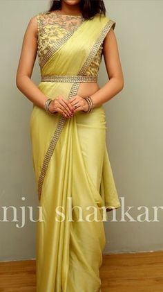 ZARI by Anju Shankar is a Chennai based online store provieds Latest Sarees, Designer Sarees, Fancy sarees an online Shopping. Half Saree Designs, Saree Blouse Neck Designs, Fancy Blouse Designs, Bridal Blouse Designs, Indian Blouse Designs, Saree Blouse Patterns, Saree Models, Stylish Sarees, Saree Styles