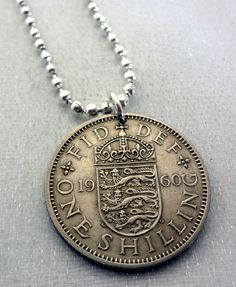 Coin Jewelry Vintage BRITISH SHILLING coin by FindsAndFarthings, $14.95