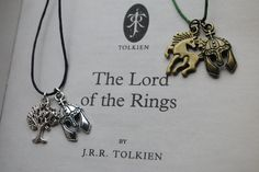 Lord Of The Rings Merry & Pippin Friendship Necklaces (Rohan and Gondor). £7.00, via Etsy.