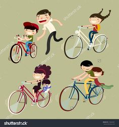 Find Family On Bicycles Family Bike Riders stock images in HD and millions of other royalty-free stock photos, illustrations and vectors in the Shutterstock collection. Free Vector Graphics, Vector Art, Family Illustration, Bike Rider, Bike Art, Royalty Free Stock Photos, Clip Art, Bicycles, Illustrations