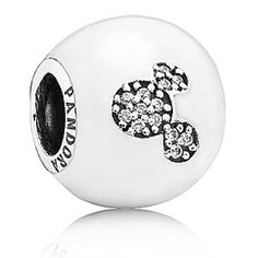 Disney Mickey Mouse ''I LOVE MICKEY'' Charm by PANDORA | Disney StoreMickey Mouse ''I LOVE MICKEY'' Charm by PANDORA - Spell out your love for all things Mickey with this striking charm. Its beautiful combination of pure white enamel and shimmering cubic zirconia details are a stylish, and fun, take on the trend for personal messages and expression.