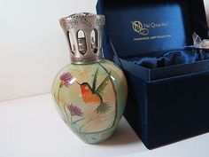 Ne Qwa Art Praise Morning  Fragrance Lamp by Susan Winget Hummingbird/Floral