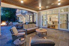 Hampton Bay Patio Furniture Patio Beach with Balcony Beach House Glass Sliding Doors Gray Outdoor Furniture