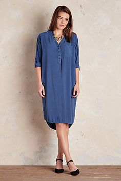 Martine Button Front Shirtdress