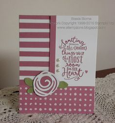 handmade baby card from Stampin' & Scrappin' with Stasia ... Seedweet Sugerplum with a pop of green ...