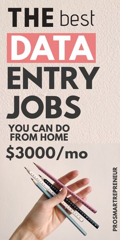 Data entry jobs are a great option for those who want to make easy money from home. To qualify, you just need a PC and good typing skills with great accuracy. Ways To Earn Money, Earn Money From Home, Earn Money Online, Way To Make Money, Money Fast, Making Money From Home, Money Today, Work From Home Companies, Online Jobs From Home