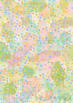 Fyllayta - Fifties style pastels pattern in irregular style