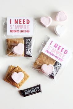 """I Need S'more Friends Like You!"" Darling homemade kids Valentine idea with Free printable to make your own!"