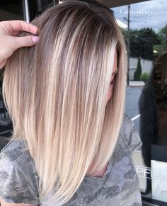 80 Bob Hairstyles To Give You All The Short Hair Inspiration - Hairstyles Trends Long Lob, Long Bob Blonde, One Length Bobs, One Length Hair, Balayage Lob, Blonde Balayage Bob, Super Hair, Hair Pictures, Blonde Hairstyles