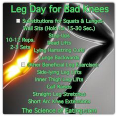 For those who have bad knees, here is a leg day workout that is more gentle, yet provides results!