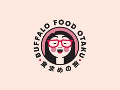 Buffalo Food Otaku japanese food buffalo ny stronghold studio character illustration logo food branding food blogger foodie food japanese Food Logo Design, Logo Food, Buffalo Recipe, Buffalo Food, Food Branding, Japanese Characters, Character Illustration, Japanese Food, Logo Inspiration