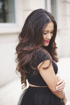 Beautiful Jennifer wearing her Ombre Chestnut Luxy Hair extensions | Photo Credit: http://hauteofftherack.com/page/2/