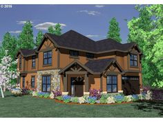 Proposed richly detailed and efficient home plan features an open kitchen with expansive yet intimate great room, along with both formal and informal dining as well as main floor den. The corner entrance fits perfectly to the eye. Upstairs is a generous and well thought out Master Suite, along with big bonus room, two additional bedrooms and an upper floor utility room.