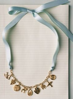 Turn a bracelet into a necklace - great idea!