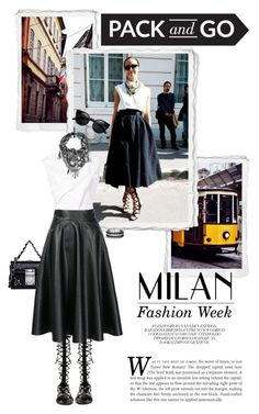 Pack and Go: Milan by leslee-dawn on Polyvore featuring Aganovich, WithChic, Raye, Dsquared2, David Yurman. Pack and Go: Milan contest submission, Feb. 18, 2016.