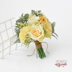 Your place to buy and sell all things handmade Bridal Bouquet Wedding Bouquet Silk Bridal Bouquet Yellow Cascading Bridal Bouquets, Silk Bridal Bouquet, Summer Wedding Bouquets, Summer Wedding Colors, Flower Bouquet Wedding, Bridesmaid Bouquet, Prom Flowers, Bouquet Flowers, Bridesmaids