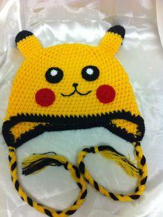 Pokemon toddler hat / pikachu hat / children hat / by NARELO, $25.00
