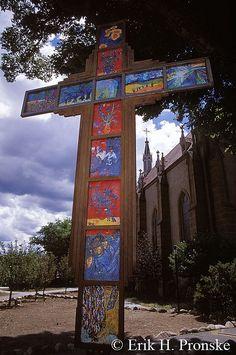 Loretto Cross, Santa Fe, New Mexico; photo by Erik Pronske