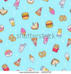 Find Fast food vector seamless pattern on blue background stock vectors and royalty free photos in HD. Explore millions of stock photos, images, illustrations, and vectors in the Shutterstock creative collection. Fun Crafts, Paper Crafts, Blue Backgrounds, Royalty Free Photos, Aesthetic Wallpapers, Illustration, Pattern, Food, Galleries