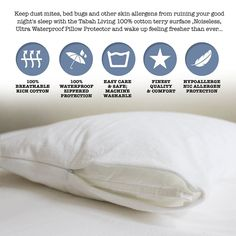 Dust Mite Pillow Covers Interesting Bed Bug Pillow Protector Cover Zippered & Waterproof Dust Mite Design Inspiration