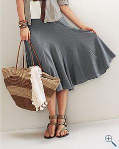 Gored knit skirt, Garnet Hill. $34