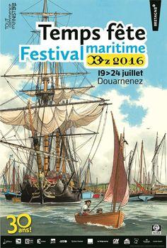 Douarnenez. L'affiche du festival Temps Fête 2016    Bretagne   Finistère   #myfinistere
