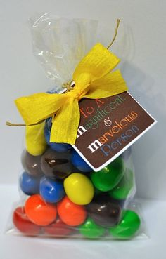 For a Magnificent & Marvelous person. M & M candy gift.