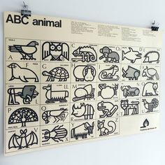 """Posters (only printed in 1973 and extracted from the series of matchboxes """"Abecedario Animal"""" (Animal alphabet) designed by Cruz Novillo. Graphic Design Typography, Graphic Design Illustration, Alfabeto Animal, Forest Illustration, Alphabet Design, Animal Alphabet, Elements Of Art, Branding, Design Art"""