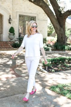 All white with Ann Taylor Tanya Foster | all white | http://tanyafoster.com