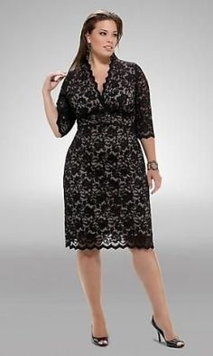 Plus Size Formal Dresses With Sleeves Plus Size Formal Dresses, Plus Size Outfits, Lace Dress, Dress Up, Modelos Plus Size, Girl Fashion, Fashion Outfits, Black Prom Dresses, Wedding Dresses