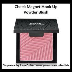 Cheek Magnets Hook Up Powder Blush - New mark by Avon Makeup Relaunch Campaign 10 2017 Brochure!  Shop the trend http://barbieb.avonrepresentative.com #mark #avon #makeup #bold #new #trendy #beauty #representative