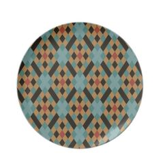 Victorian Geometric Design Decorative Plate