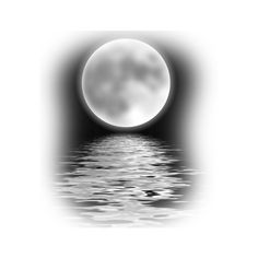 paysages moir pour creations - Page 5 ❤ liked on Polyvore featuring backgrounds, moon, black and white, tubes, water, borders and picture frame