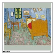 The Bedroom by Vincent Van Gogh Wall #Decal. Brilliant high-resolution printing on self-adhesive #fabric #paper. Easy peel and restick up to 100 times. #VanGogh #bedroom #arles #painting #art #artwork #postimpressionism #impressionism #poster #print