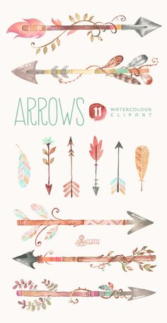 Best Way To Safeguard Your Investment Decision - RV Insurance Policies Arrows Watercolor Clipart. 11 Hand Painted By Octopusartis Trendy Tattoos, New Tattoos, Tatoos, Cross Tattoos, Watercolor Clipart, Tattoo Watercolor, Watercolor Paintings, Painting Tattoo, Planner Stickers