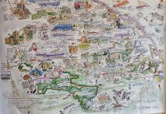 map of north yorkshire by tim bulmer