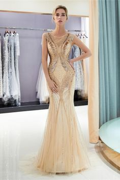 Prom Dress Beading Evening Dresses for women Formal Mermaid Bridal Wedding Gown Occasion Dresses for Wedding Guests Dress Gold Evening Dresses, Mermaid Evening Dresses, Tulle Prom Dress, Evening Gowns, Prom Dresses For Sale, Prom Party Dresses, Bridesmaid Dresses, Wedding Dresses, Prom Gowns