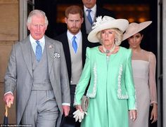 Prince Charles, Prince of Wales and Duchess Camilla of Cornwall host his 70th birthday Patrons Celebration Garden Party at Buckingham Palace with support from the Duke and Duchess of Sussex. May 22, 2018