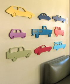 Modern car wood sign, Car silhouette, Vintage car, Boys room wall, Boys décor, Nursery wall, choose your color