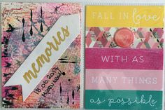 Project Life, Fall, Cover, Projects, Books, Pink, Autumn, Log Projects, Blue Prints