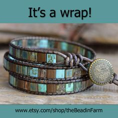 Such an assortment of wrap bracelets at The Bead Farm!  www.etsy.com/shop/theBeadinFarm