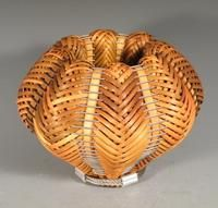 CAROLE  HETZEL Brendan  Double-woven reed and stainless steel cable