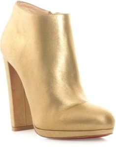 Christian Louboutin Gold Boots 36