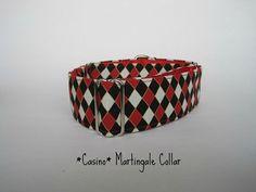 """Red Black Diamond Martingale Collar, Diamond Martingale Collar, Red White Black Diamonds Dog Collar  $19.99  Available in 2"""", 1.5"""" and 1"""" martingale collar"""