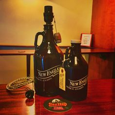 New England Brewery Beer Growler Bottle Lamp
