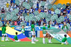 Players of Cruzeiro and Corinthians pay a tribute for Chapecoense team during a match between Cruzeiro and Corinthians as part of Brasileirao Series A 2016 at Mineirao stadium on December 11, 2016 in Belo Horizonte, Brazil.