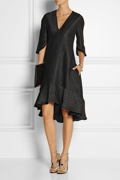 Chloé | Metallic silk-blend dress | NET-A-PORTER.COM